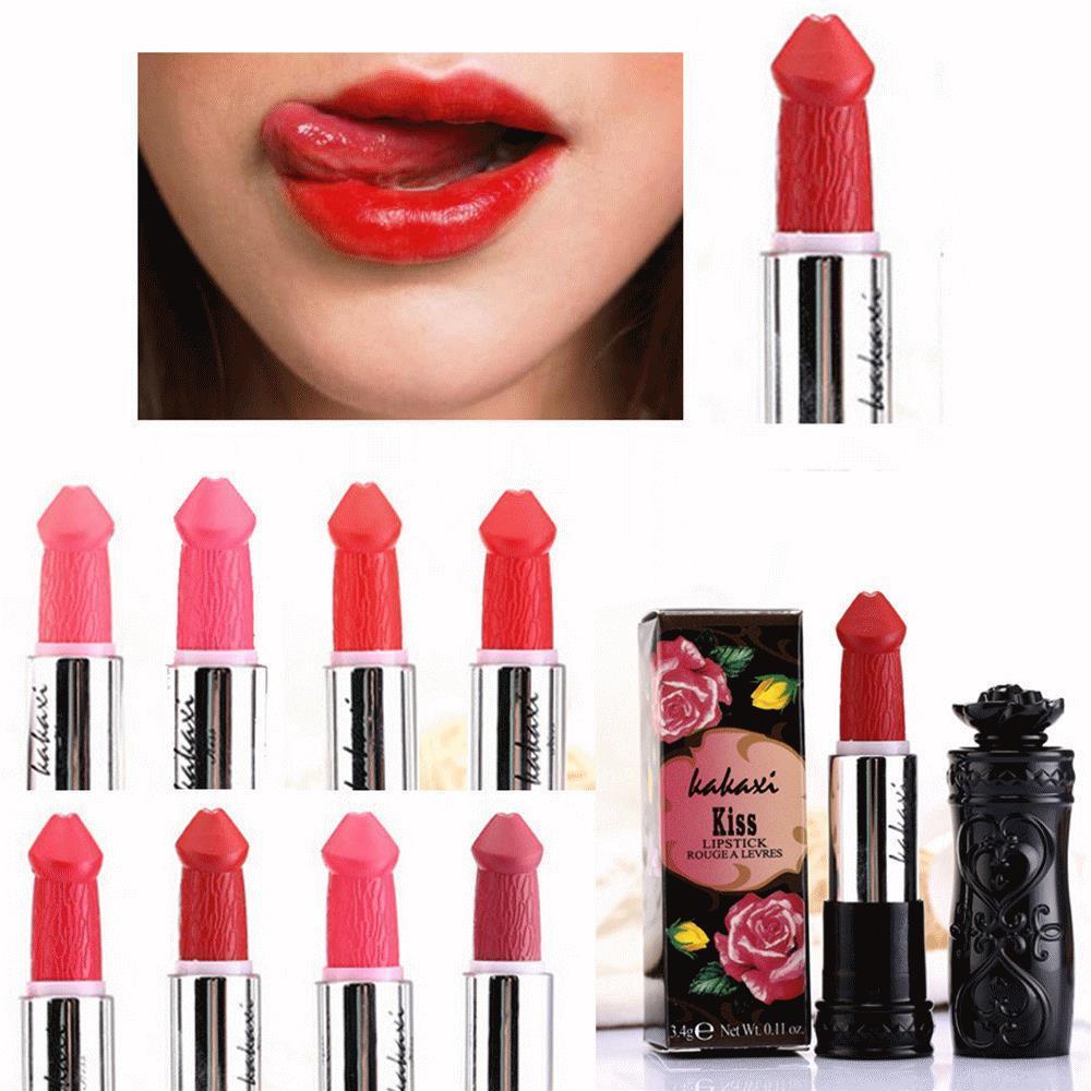Mulheres batom popular forma de pênis vampiro vampiro beijo lipgloss vendas quentes batom lip batom duradouro lip vendas