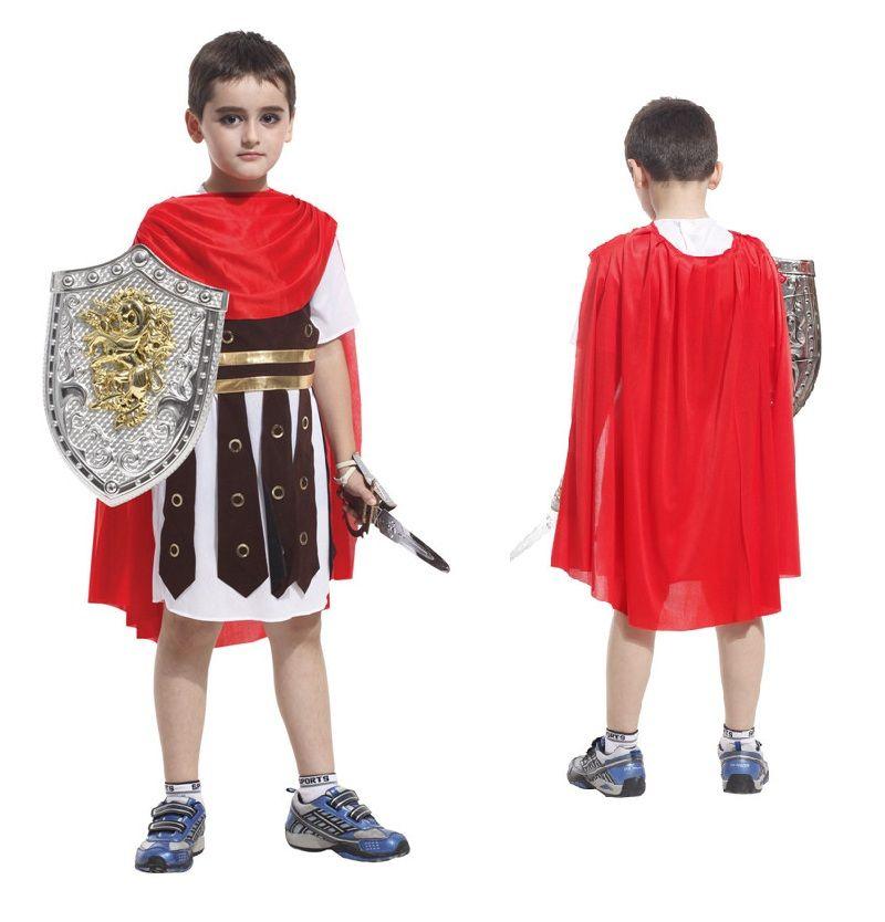 fc179dab1529 Acquista Costumi Antichi Roma Bambini Costume Cosplay Romano Guerriero  Bambini Costumi Romani Soldato I Ragazzi Vestiti Di Halloween Cosplay A   21.67 Dal ...