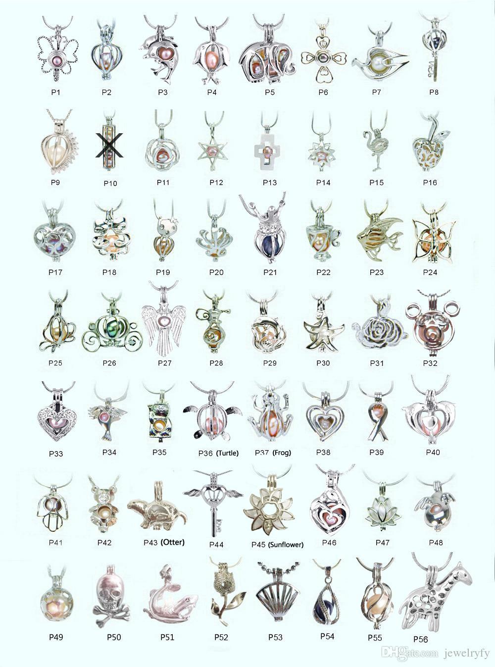 18 KGP Moda DIY Dilek Inci / Gem Boncuk Madalyon Kafesleri, Güzel Charms Kolye Montaj Toptan 100 adet / grup farklı stilleri karıştırabilir