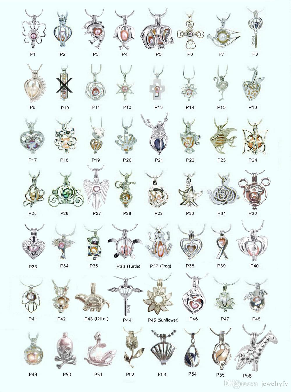 18kgp Fashion love wish pearl/ gem beads locket cages, lovely DIY charm pendant mountings wholesale 100pcs/lot (can mix different styles)