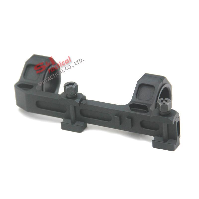 GE الصيد بندقية نطاق جبل 25 ملليمتر / 30 ملليمتر حلقات قطر AR15 M4 M16 مع مستوى فقاعة متكاملة تناسب ويفر picatinny السكك الحديدية نسخة قصيرة أسود