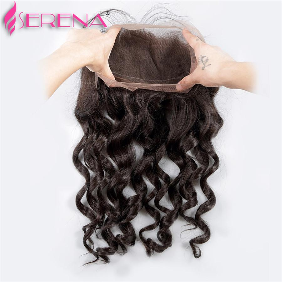360 Frontal With Bundles Loose Wave Brazilian Virgin Hair 7a Bundles With Frontal Afro Hair With Baby Hairs Body Wave Cheap Hair Extensions