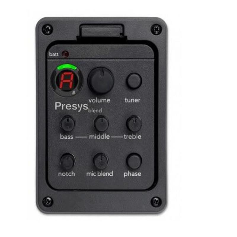 Guitar Pickups Presys blend Dual Mode Guitar Preamp EQ Tuner Piezo Pickup Equalizer System With Mic Beat Board Pickups