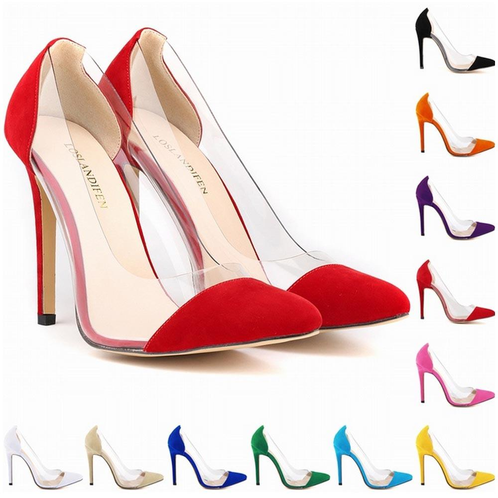 8755b20e4e0 New Style Special Offer Femininos Women Shoes Patchwork High Heels Pointed  Corset Style Work Pumps Court Big Size 4 11 D0007 White Mountain Shoes  Scholl ...