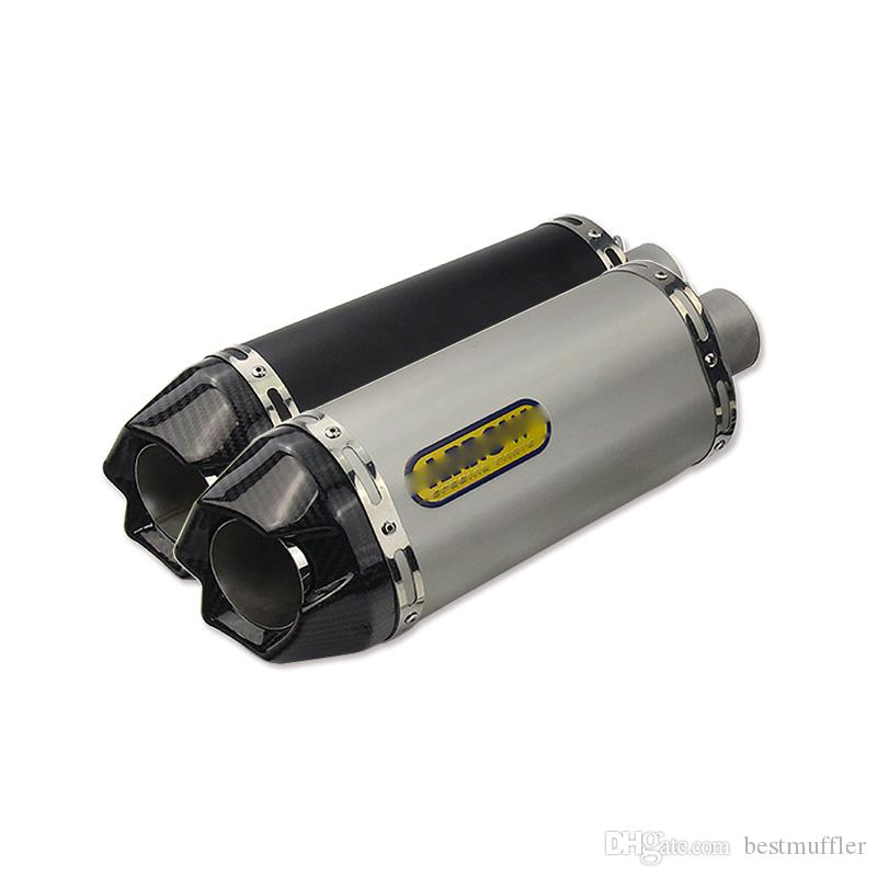 38-51mm Universal Motorcycle Exhaust Muffler Pipe Silencer Exhaust System With Removable DB Killer