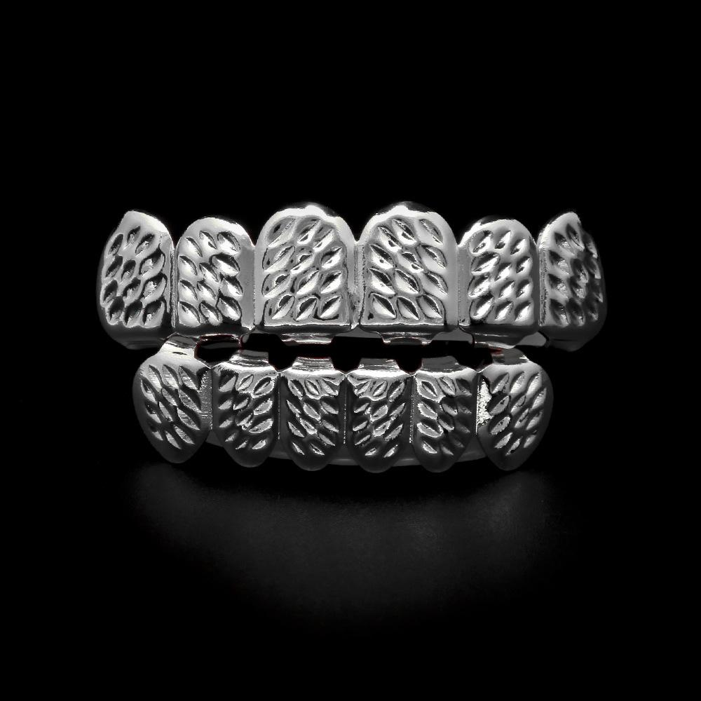 Fashion Hip Hop Grillz Jewelry Teeth Caps Gold Plated For Men 2017 New Arrival Braces