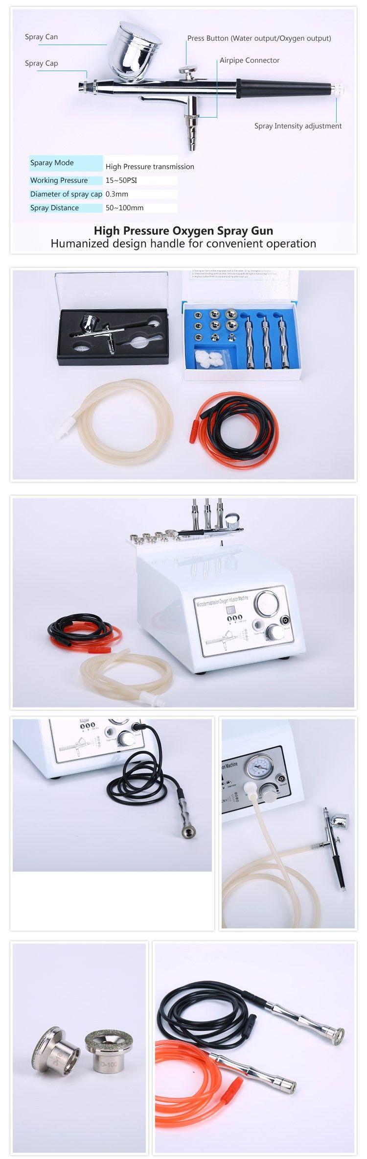 Trasporto veloce jet cura della pelle peeling macchina dermoabrasione alta pressione di ossigeno dell'acqua cura del viso