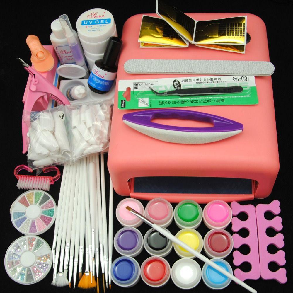 Wholesale- New 36w Pink UV Lamp Nail Dryer UV Gel Cleanser Plus ...