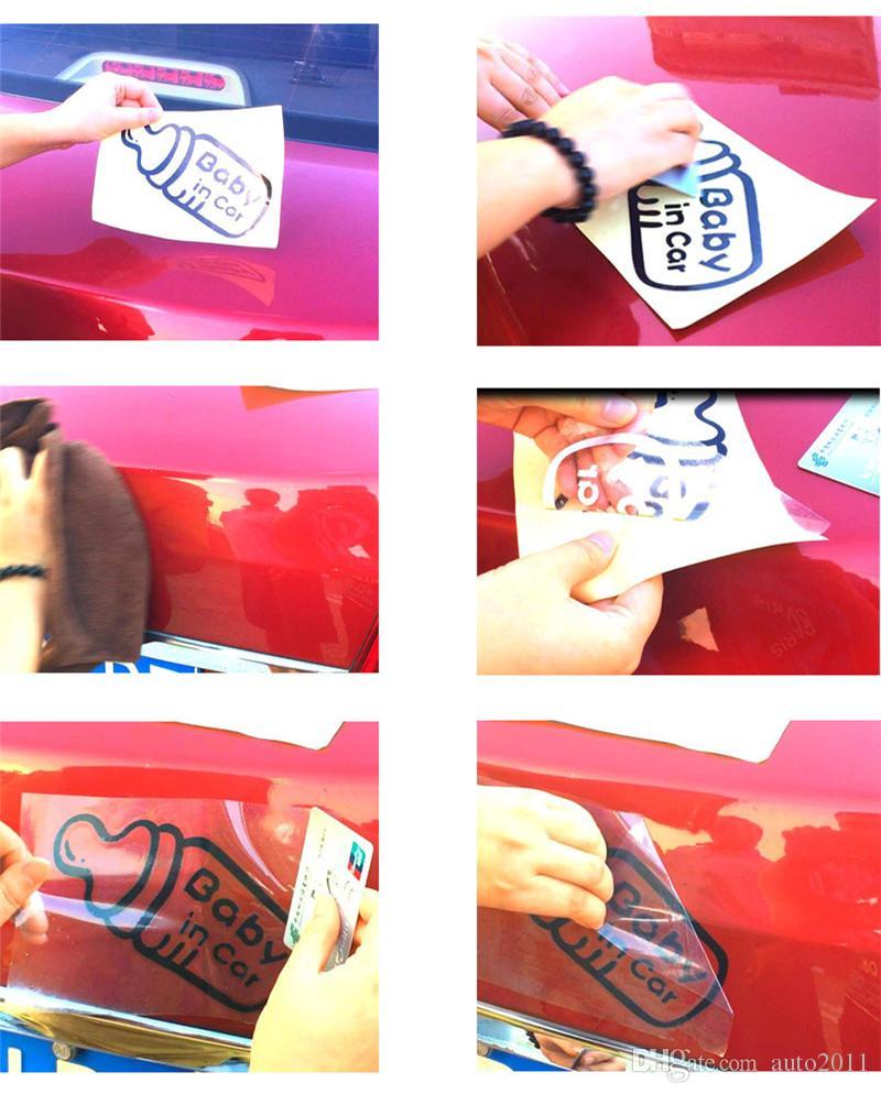 Lovely Dog Puppy Paw Heart Design Adesivi auto Decalcomania in vinile Nero bianco 11,5 cm 20 pezzi senza accessori esterni Accessori corpo intero