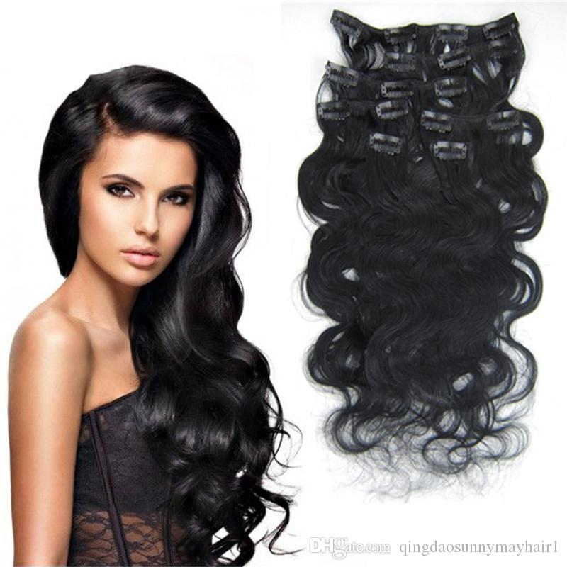 Clip In Hair Extensions 70g To 100g Human Hair Extensions Clip In