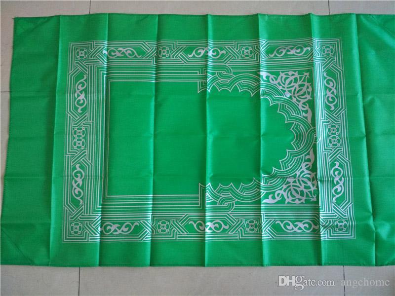 Toptan 100 * 60 cm cep namaz mat Namaz Mat-İslam seyahat cep boyutu protable müslüman namaz mat ile pusula
