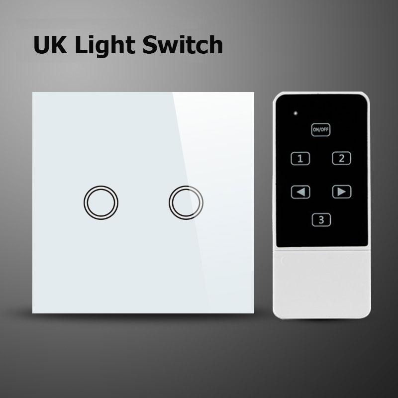 Wholesale Uk Standard Smart Home Wall Switch, 2 Gang 1 Way,White ...