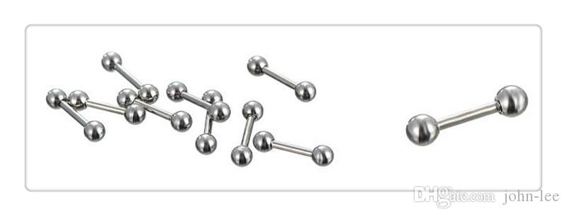 Free Mix Silver Stainless Steel Nose Navel Belly Lip Nipple Eyebrow Ear Studs Bar Ring Ball Piercing Kit Body Jewelry