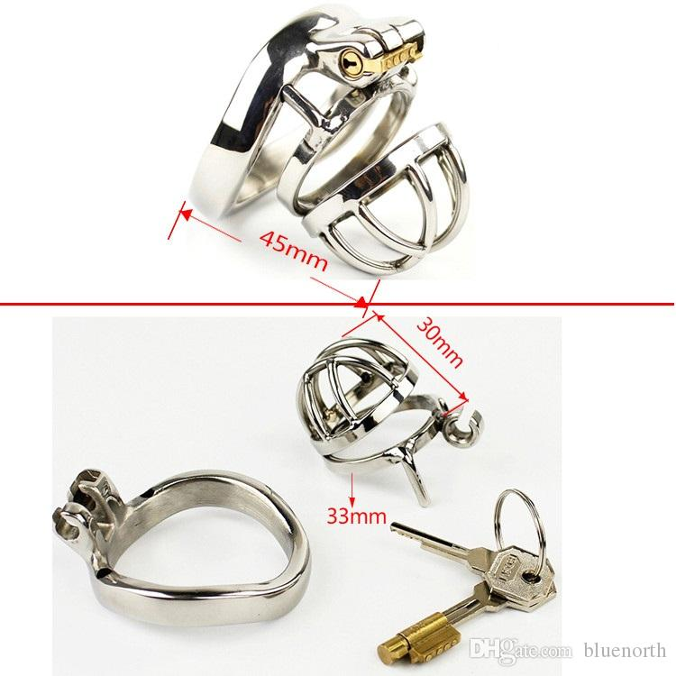 New Lock Male Chastity Device Cock Cage Chastity Lock Sex Toys Men SM Fetish Sex Product