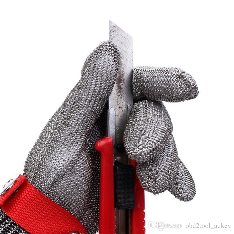 دائم جودة السلامة خفض مقاومة طعنة الفولاذ المقاوم للصدأ شبكة معدنية جزار قفاز الصحة والسلامة