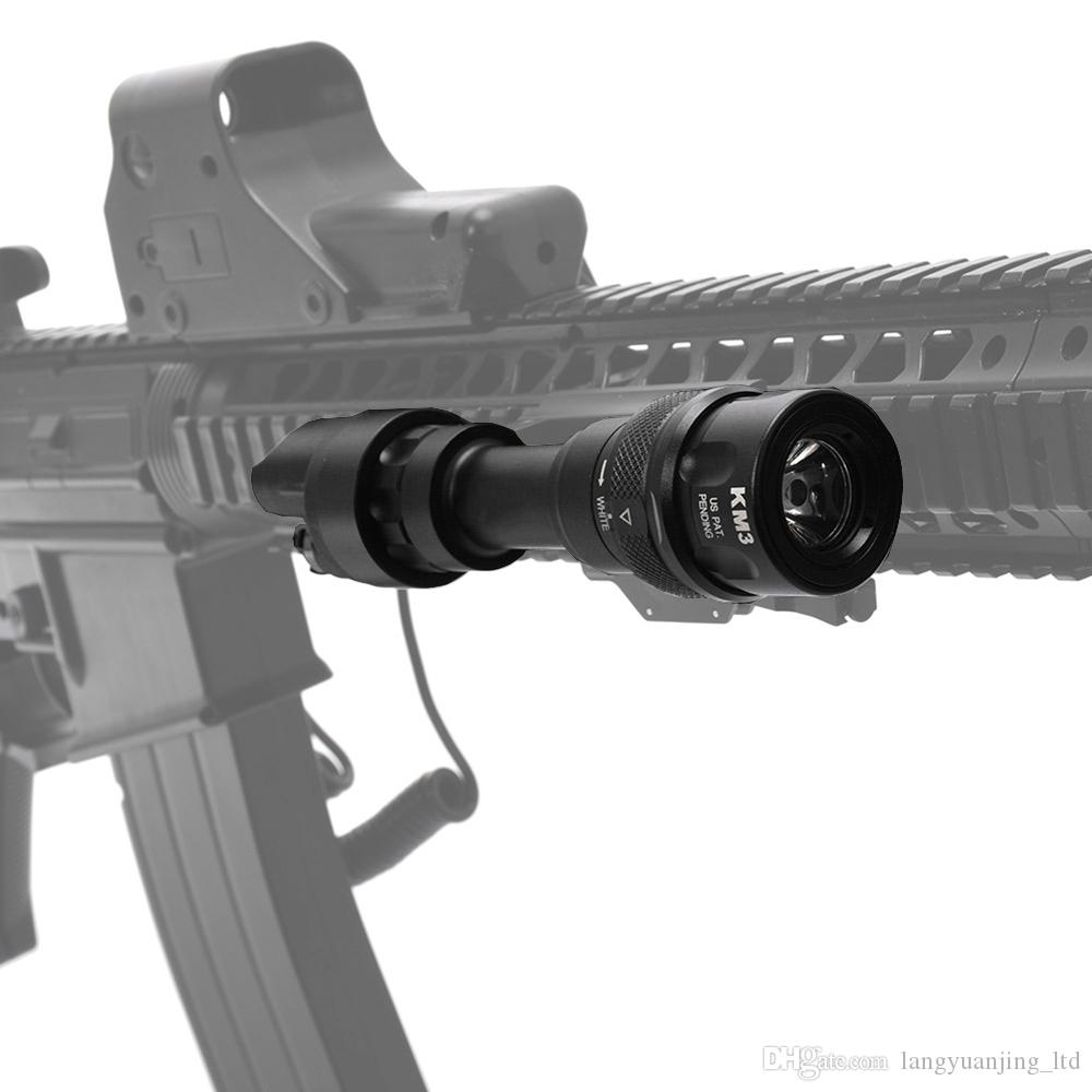 Elemento tattico SF M952V LED torcia elettrica Tactical Gun Light Rail highlight + Strobe Mounted M952V BK / CB 20mm Weaver Picatinny paramani