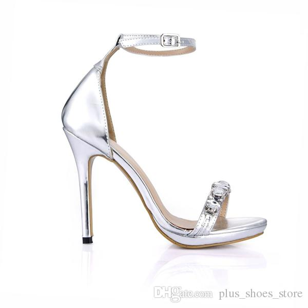 2017 Real Women Sandals Crystal Buckle Strap Bridal Wedding Shoes High Thin Heels New Arrive Hot Sale Shoes Summer Style Shoes