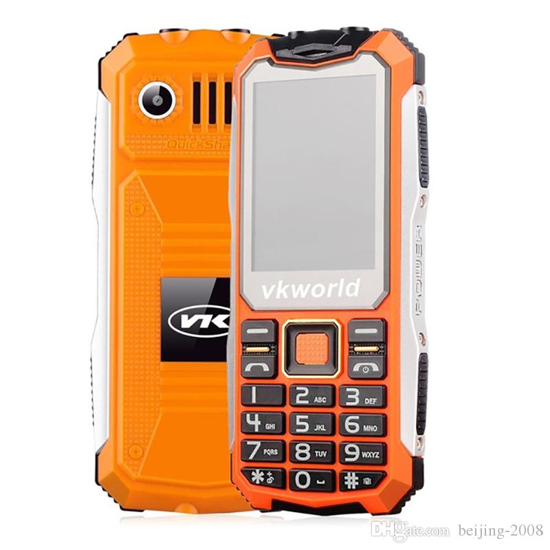 VKworld VK V3S 2 4inch 2200mah Dual Sim Card Double LED Lights Waterproof  Shockproof Anti-dust 2G GSM Cell Phone