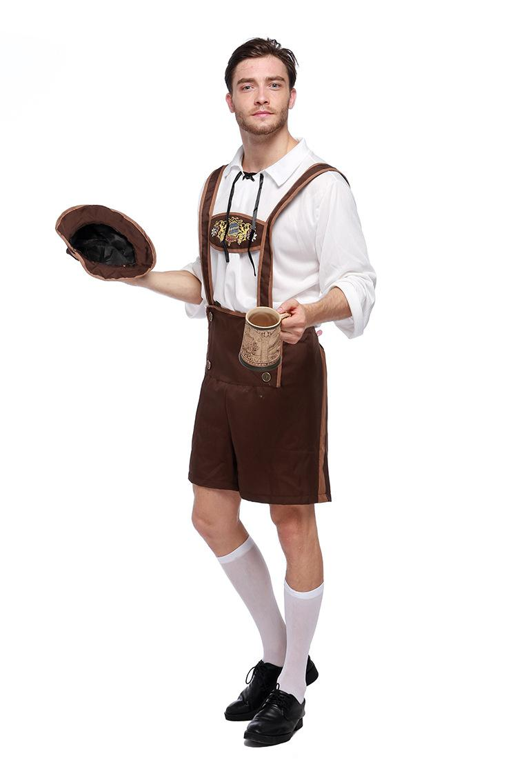 germany beer festival costumes plus size male adult stage performance clothing the waiter the game is dressed up halloween costume group costume party theme