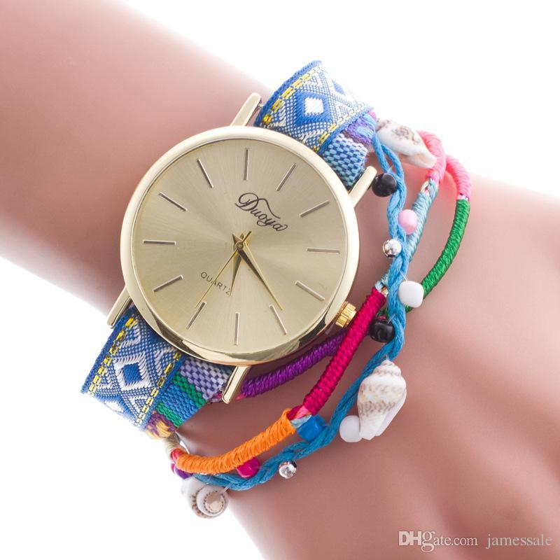 Geneva Ms Hot style to recommend ms bracelet watch Ms rivets bracelet watch  bracelet around South Korea velvet table Spot wholesale