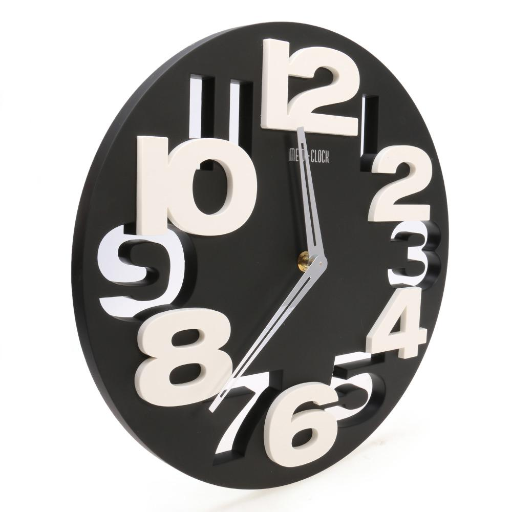 Wholesale Rounds Wall Clock Modern Design 3d Big Digit Modern ...
