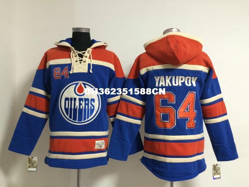 7a157e2b06a ... 2017 Wholeasle Sale Nail Yakupov Jersey Sweatshirts Mens Ice Hockey  Hoodies Stitched Embroidery Logos 64 Nail Reebok ...