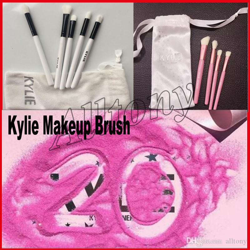 Kylie Brush Set Kylie Limited Edition Holiday Collection brushes set 5pcs Kylie Cosmetic Makeup brush I WANT IT ALL 20th Birthday 4pcs brush