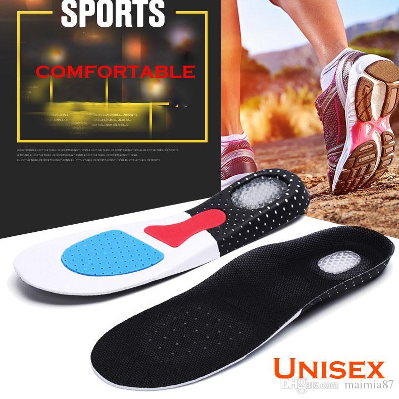 Unisex Ortesis la ayuda de arco Deporte cojín de las zapatillas de running plantillas del gel inserción de cojín amortiguador de choque del entrenamiento Plantillas de EVA para los hombres mujeres al por mayor