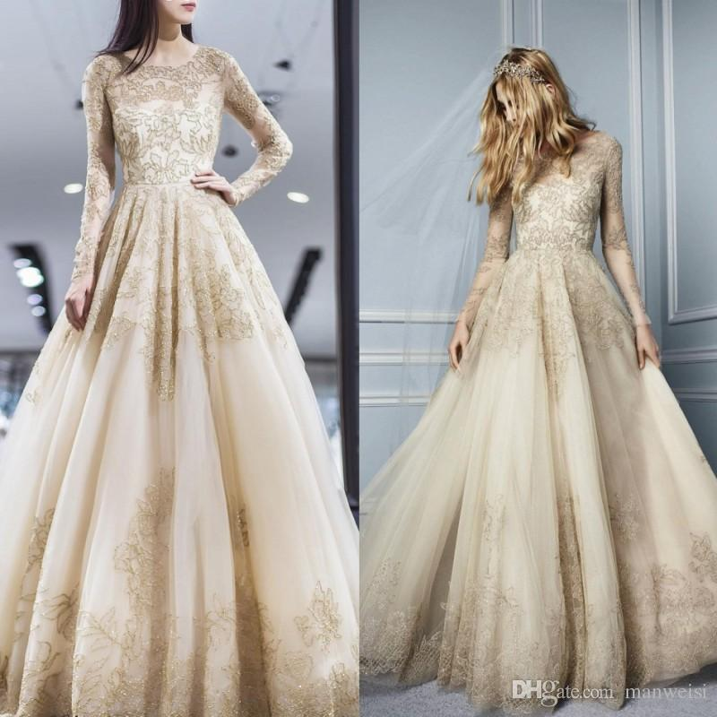 8260de20cf9 Elie Saab Illusion Prom Dresses Long Sleeve Lace Appliqued Beads A Line  Evening Gowns Tulle Plus Size Formal Party Dress Prom Dress Boutiques Prom  Dress ...