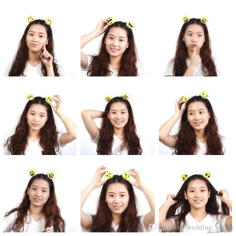 High quality QQ funny expression series plate hair cute sell germination hair hoop hair ring burst models TG061 mix order 30 pieces a lot