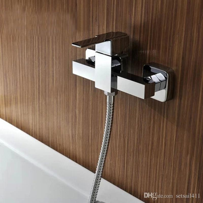 Newly Shower Mixer Cold And Hot Water Shower Faucet Down Bathroom  Accessories Brass Chrome Bathtub Faucets Bathtub Faucets Shower Faucet  Shower Mixer Online ...
