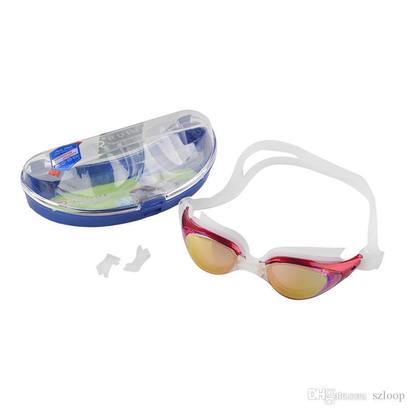 الكبار للجنسين طلاء المتطابقة المياه الرياضة ملابس رياضية مكافحة الضباب المضادة للأشعة فوق البنفسجية للماء السباحة نظارات نظارات وصول جديد 2506006