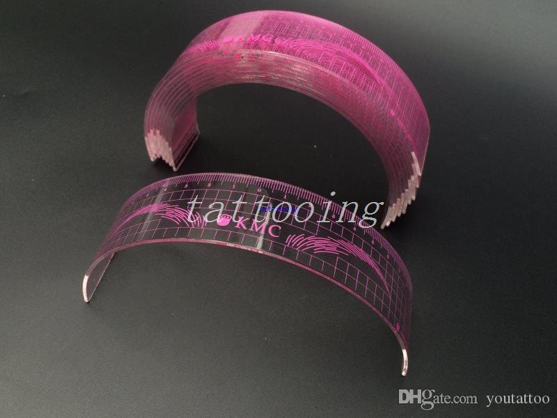 U Type En Plastique Standard Sourcil De Tatouage Pochoirs Maquillage Permanent Sourcil Sourcil Règle Utilisé Débutant Rose