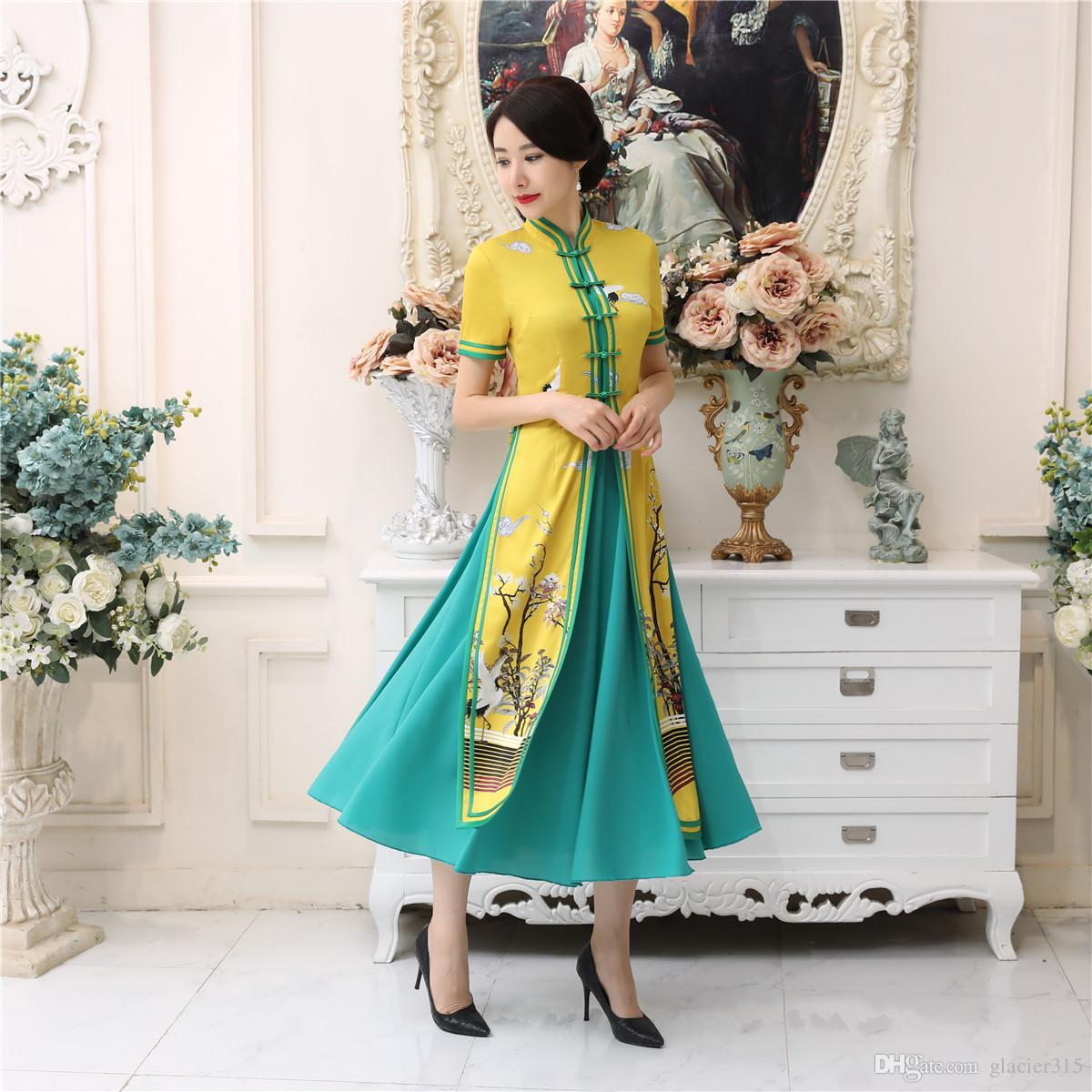 d938a642a6 Shanghai Story Vietnam Dress Chinese Traditional Clothing For Women Qipao  Long Chinese Oriental Dress Modern Cheongsam Ao Dai Dress Aodai Dress Ao  Dai Dress ...