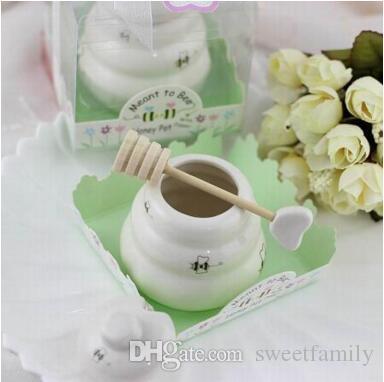 شحن مجاني 100 قطع من السيراميك يعني أن عسل النحل جرة عسل تفضل الزفاف / استحمام الطفل تفضل