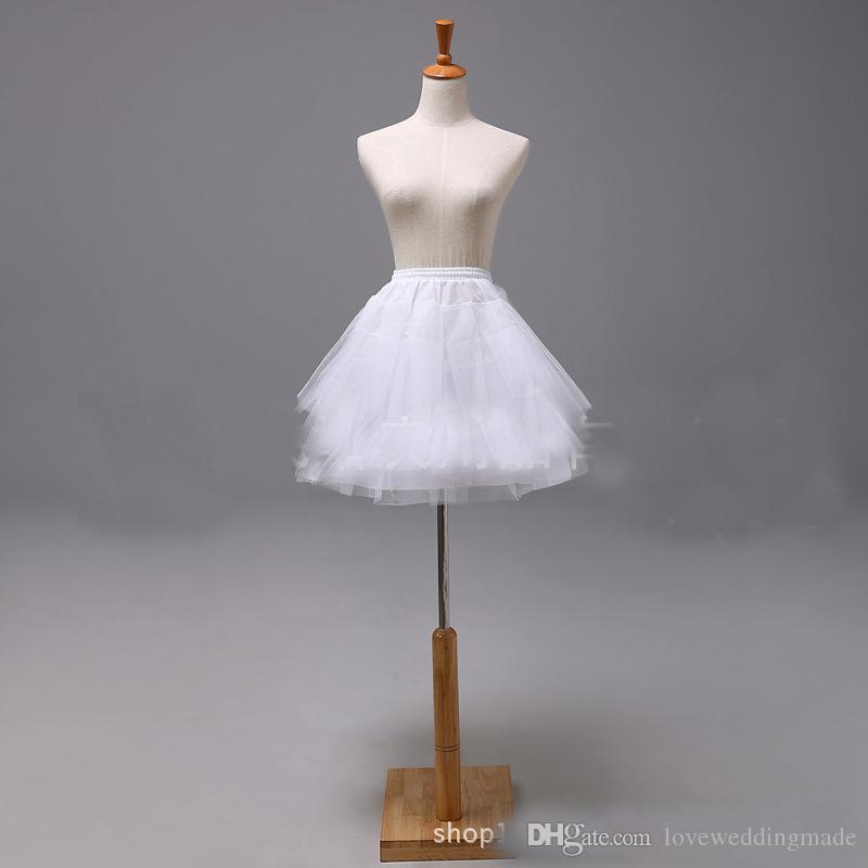 Black And White Short Children Petticoat Organza Flower Girl's Underskirt For Wedding Dress Crinoline Skirt jupon Cheap p01