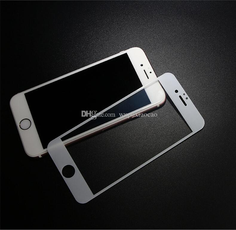 IPhone 7 için 7 artı Tam Kapak Temperli Cam Ekran Koruyucu Anti-Çizik Ücretsiz Kabarcık