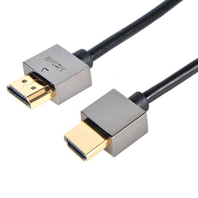 HDMICable 1.5 M 5FT Metal HDMI2.0 Video Kablosu Ethernet ile HDTV Xbox PS3 DVD için Perakende Paketi Ile LCD 1080 P Kordon