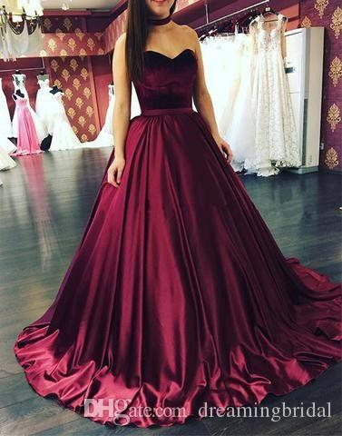 Burgundia Balowa Suknia Prom Dresses 2017 Nowa Sweetheart Sweetheart Elastyczna Sama Velvet Formalna Suknia Wieczorowa Party Dresses Custom Made Plus Size