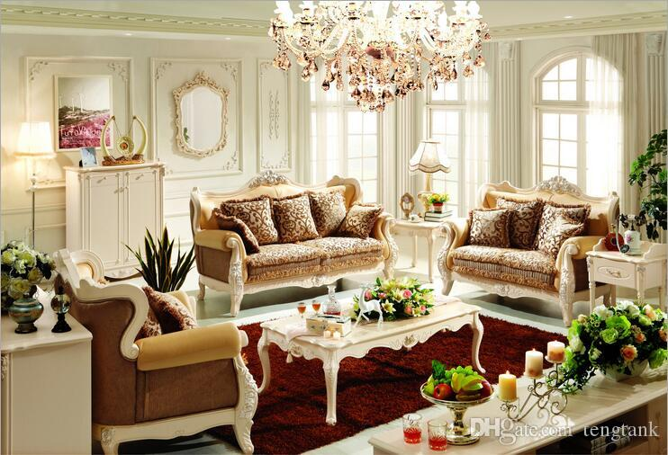 new arrival hot selling high quality European antique living room sofa furniture genuine leather set 10130