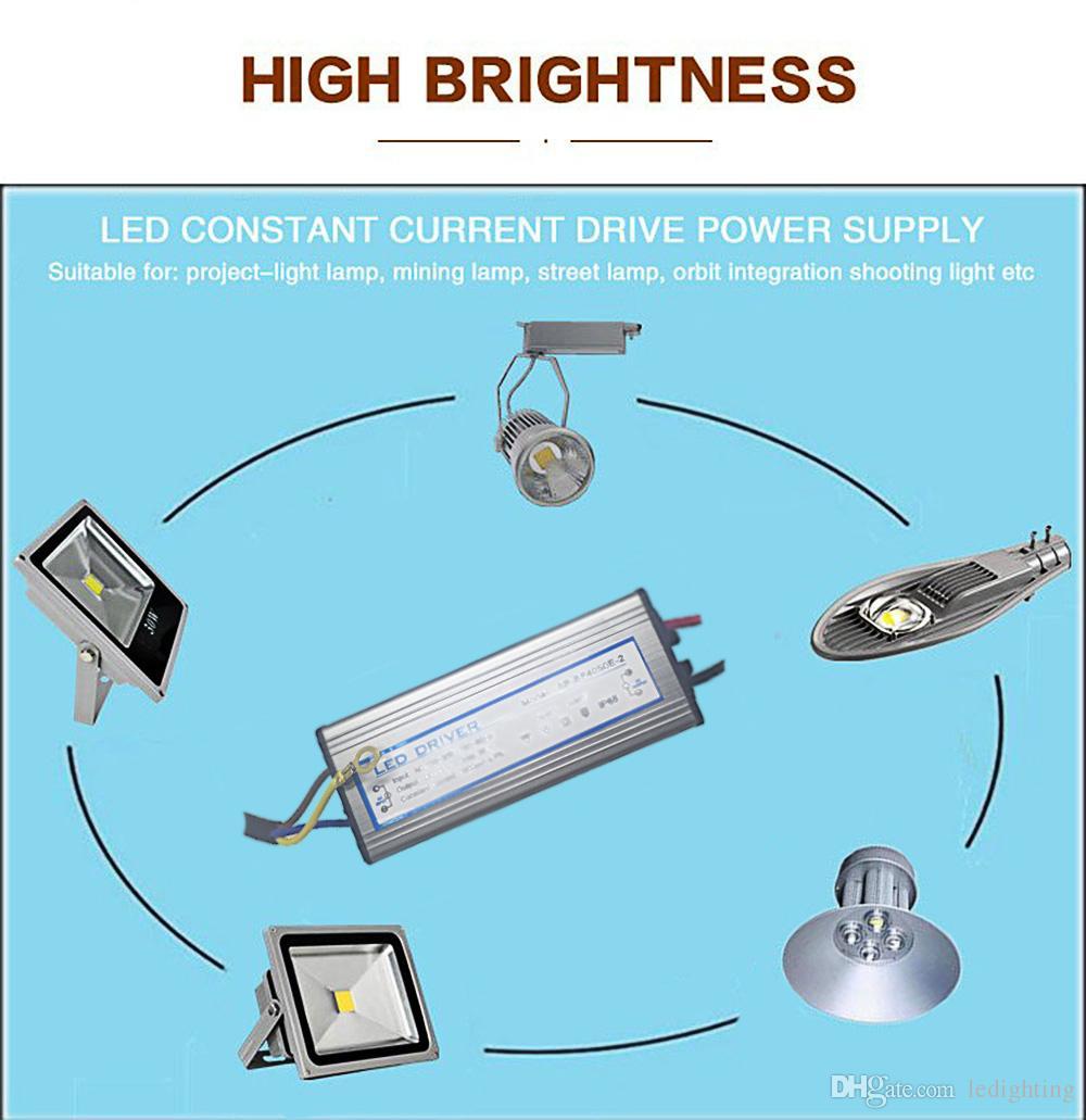 Driver LED 80W Trasformatori illuminazione Impermeabile Tensione di ingresso AC85-265V Uscita DC27-40V Corrente costante Alimentazione LED 2400mA Alluminio