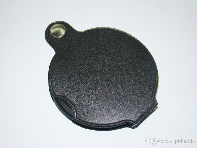 Bärbar mikroskop Förstoringsglas Loupe 60mm 50mm Diameter 5x Rund Förstoringsglas MG86034 W Svart lock