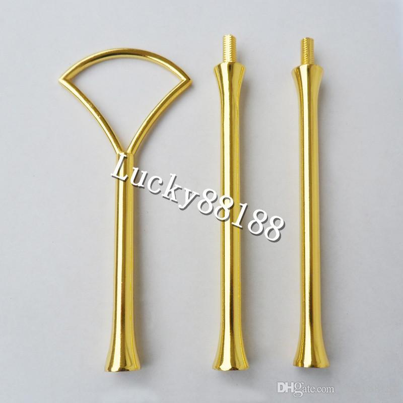 Schneller Versand - Gold / Silber. 3 Ständer Kuchen Stand Armaturen / Kuchen Platte Griffe. Kuchen Stand Mitte