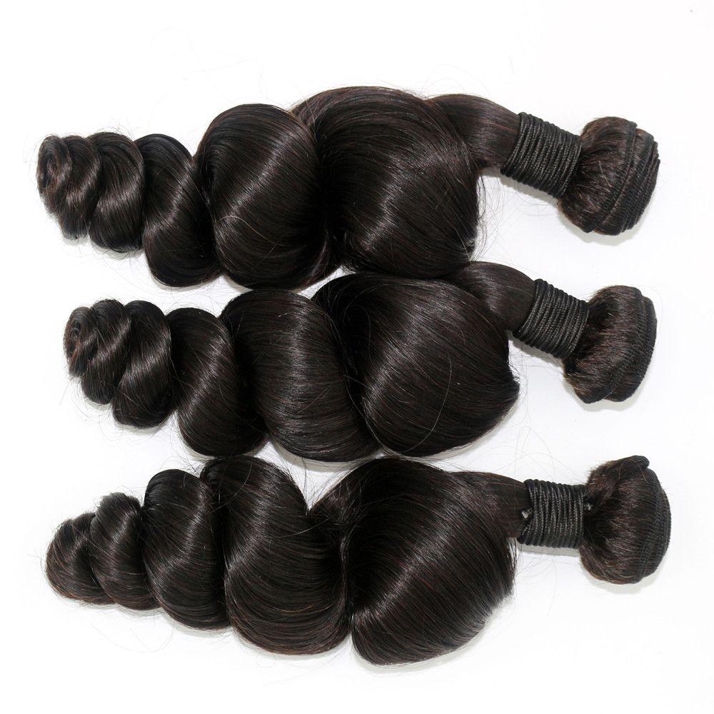 Перуанский волос ткать 10-24 дюймов малайзийский Индийский монгольский бразильский человеческих волос 1bundle/лот естественный цвет свободные волны человеческих волос