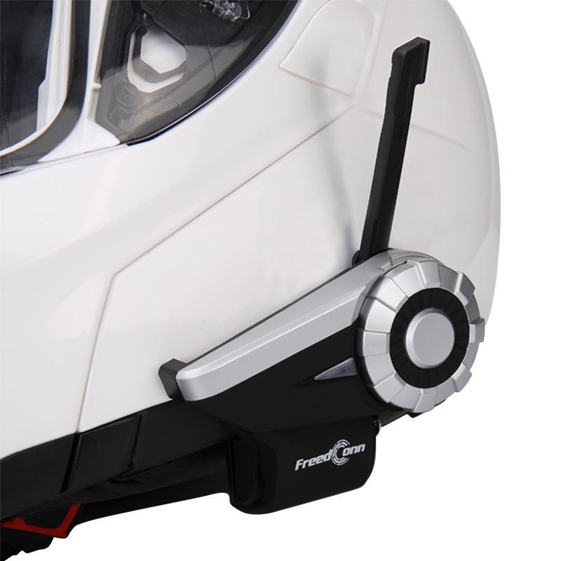 Freedconn 1500 M 8-Way Full Duplex Motocicleta Grupo Sistema de Conversação BT Interphone Rádio FM T-Rex Bluetooth Capacete Interfone Headsets para Pilotos