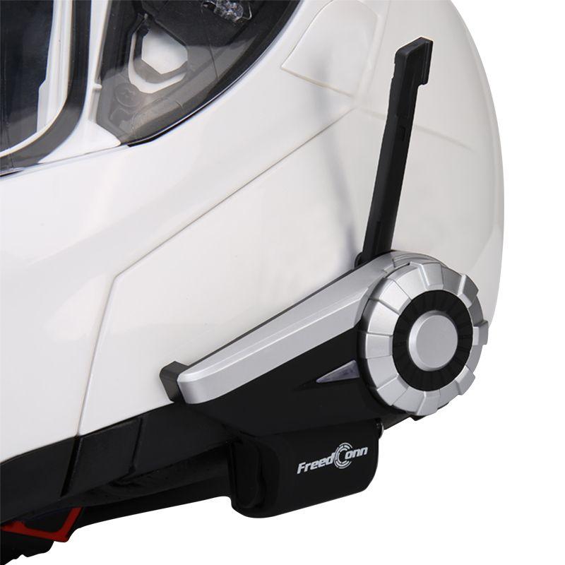 Freedconn 1500M 8 vías Full Motorcycle Group Talk sistema BT Interphone Radio FM T-Rex Bluetooth casco Intercom Auriculares para riders