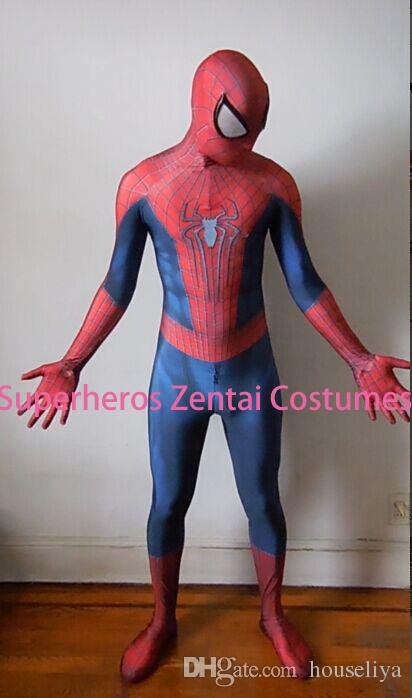 Custom The Amazing Spiderman Costume 2 Zentai Spider Man Cosplay Costume 3d Print Lycra Full Body Spidey Suit With Lenses Cheap Costumes Fairy Costumes From ... & Custom The Amazing Spiderman Costume 2 Zentai Spider Man Cosplay ...