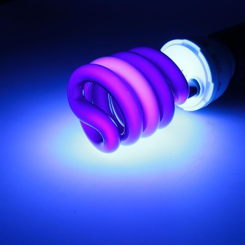 Bombilla de luz UV E27 36W / 40W Ahorro de energía Etapa negra Sprial Fluorescente Fluorescente Lámpara ultravioleta Bombilla con trampas UV Iluminación AC220V