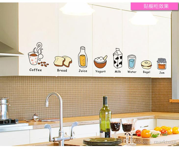 Restaurant Kitchen Refrigerator the restaurant kitchen cabinet decor wallpaper stickers stickers