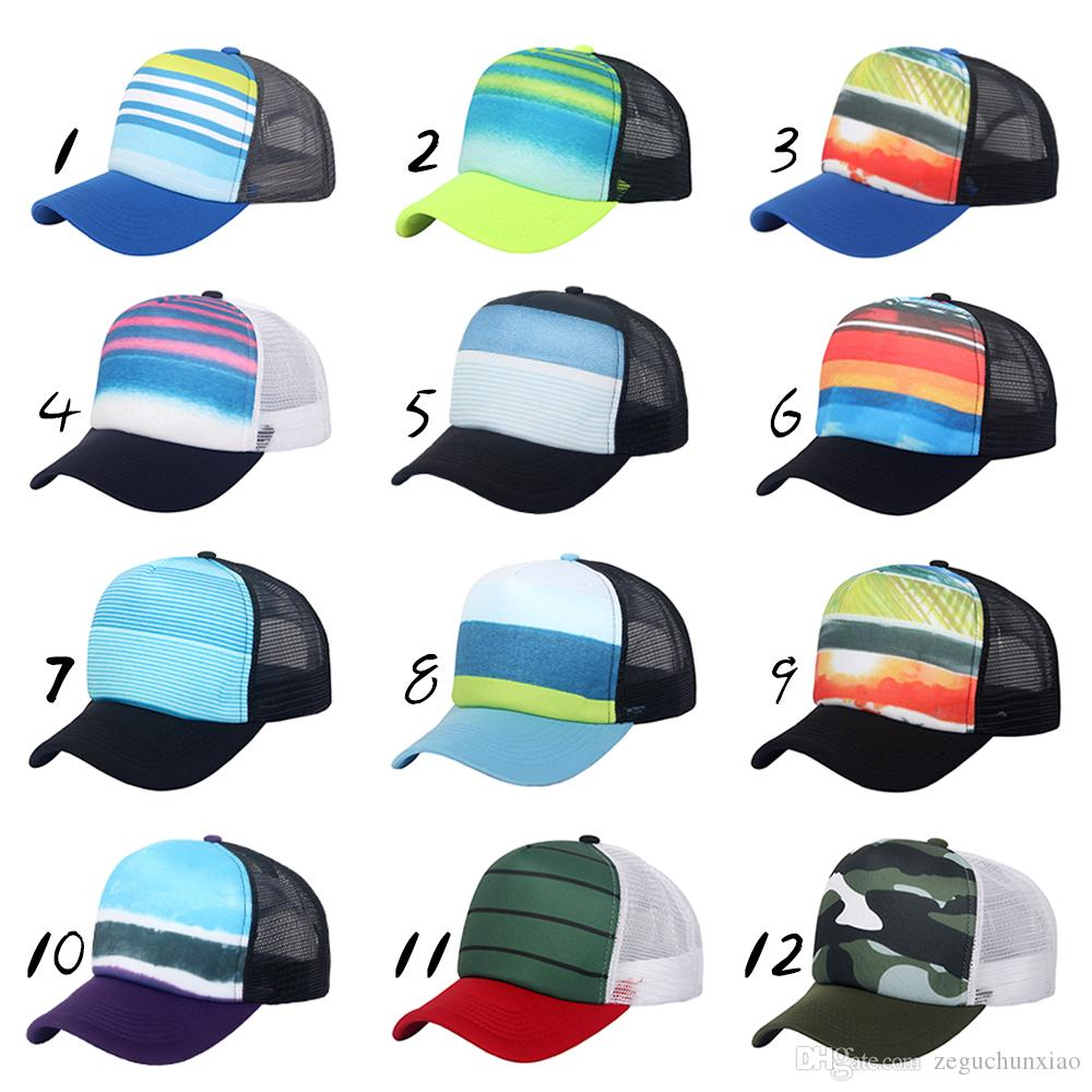 64a08a799c2 Fashion Style Sublimated Printed Baseball Caps Mesh Trucker Hat 5 Panel  Adjustable Fitted For Unisex Adults Men Women Boys Girls Brixton Hats  Trucker Cap ...